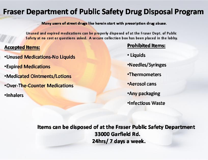 Pill Drop Off Program